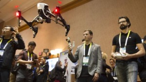 Perry flies a DJI Inspire 1 flying platform during the 2015 International Consumer Electronics Show in Las Vegas